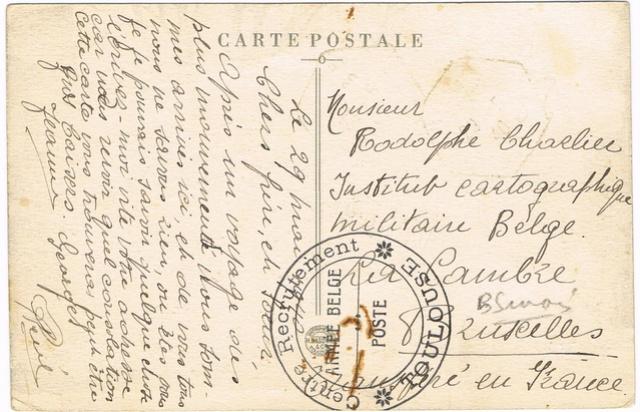 Les marques de l'armée belge repliée en France (mai-juin 1940) Ccf23113