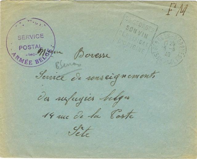 Les marques de l'armée belge repliée en France (mai-juin 1940) Ccf23116