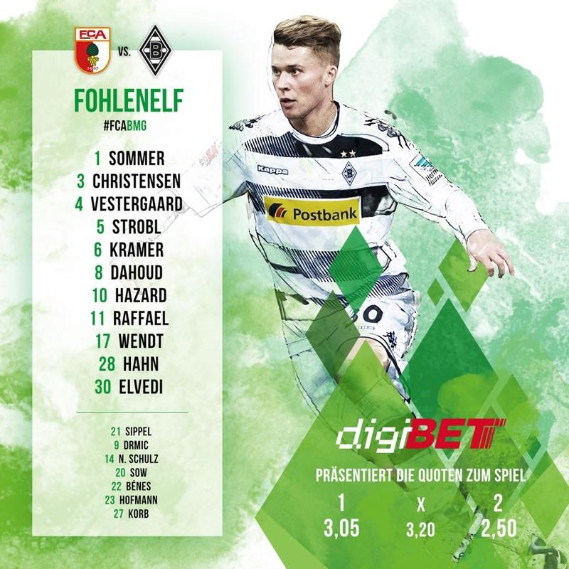 15. Spieltag: Borussia in Augsburg 15542010
