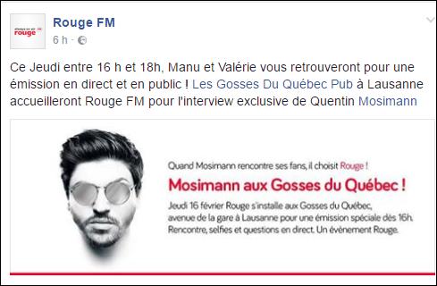 [16/02/2017] Rouge FM - Mosimann au  Gosses  du  Québec - Lausanne Captu649