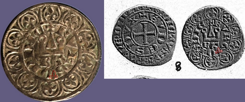 Demi gros ou maille blanche pour Eudes IV duc de Bourgogne ... Diffyr11