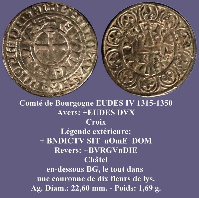 Demi gros ou maille blanche pour Eudes IV duc de Bourgogne ... Eudes_10