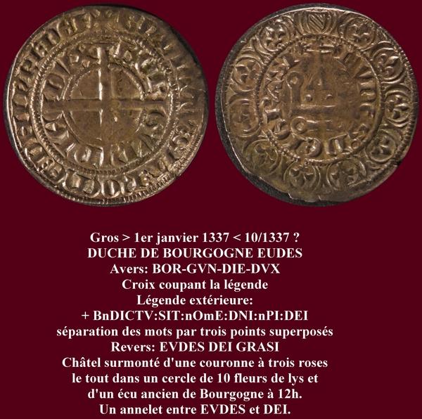 Duché de Bourgogne Gros 1337 pour Eudes IV Eudes_11