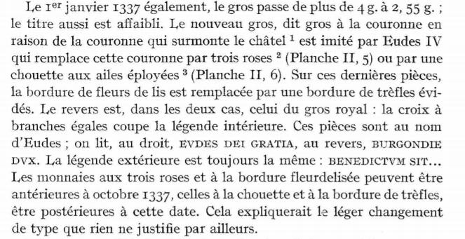 Duché de Bourgogne Gros 1337 pour Eudes IV Franyo11