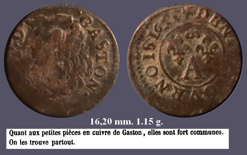 Dombes Gaston Denier Tournois 1651 Tête enfantine à gauche Gaston10