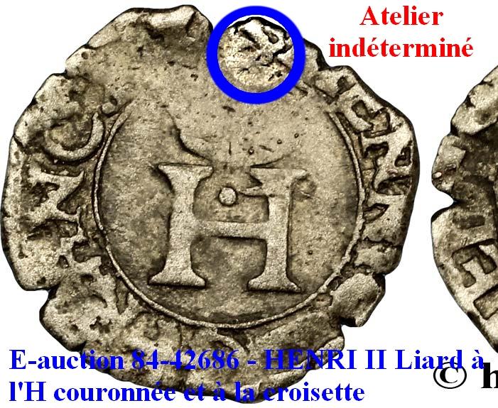 HENRI II Liard à l'H couronnée et à la croisette n.d. Aix-en-Provence. Henri_10