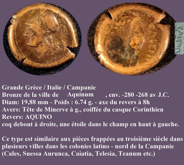 Bronze de Campanie pour la ville de Cales ... Mbac_g11