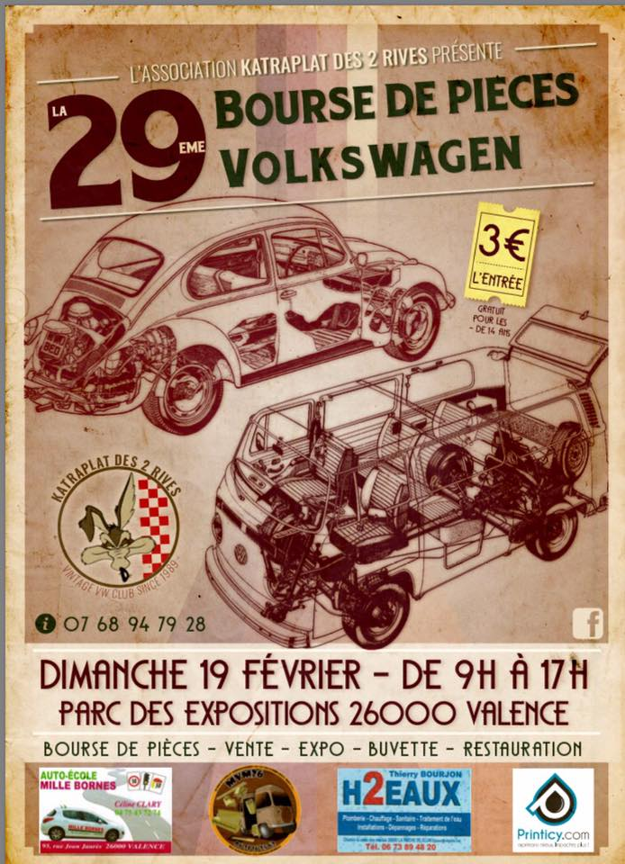 29 ème Bourse de pièces VW (valence 26) Affich10