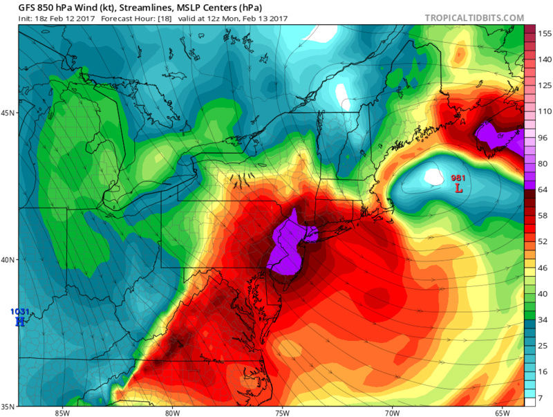 2/13/17 High Wind Event Warnings / Advisories Issued Gfs_ms15