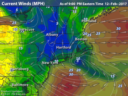 2/13/17 High Wind Event Warnings / Advisories Issued Hfd10