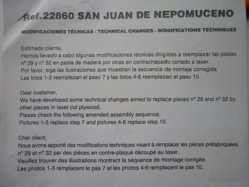 San Juan Nepomuceno - Artesania Latina 1/90 P1100112