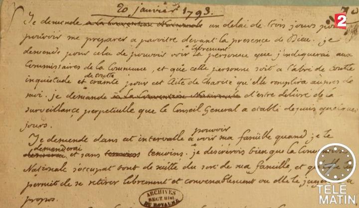 Henri-Jean Servat chez le comte de Paris - Télématin 2017 Lettre11