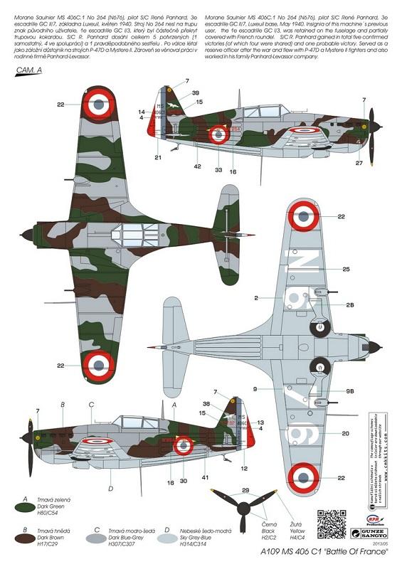 Morane-Saulnier MS-406 C.1 - AZUR 1/72 (Terminé) 01937310