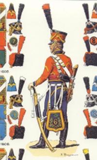 Hussard du 6ème Rgt 1809 MM54mm Juhyg11
