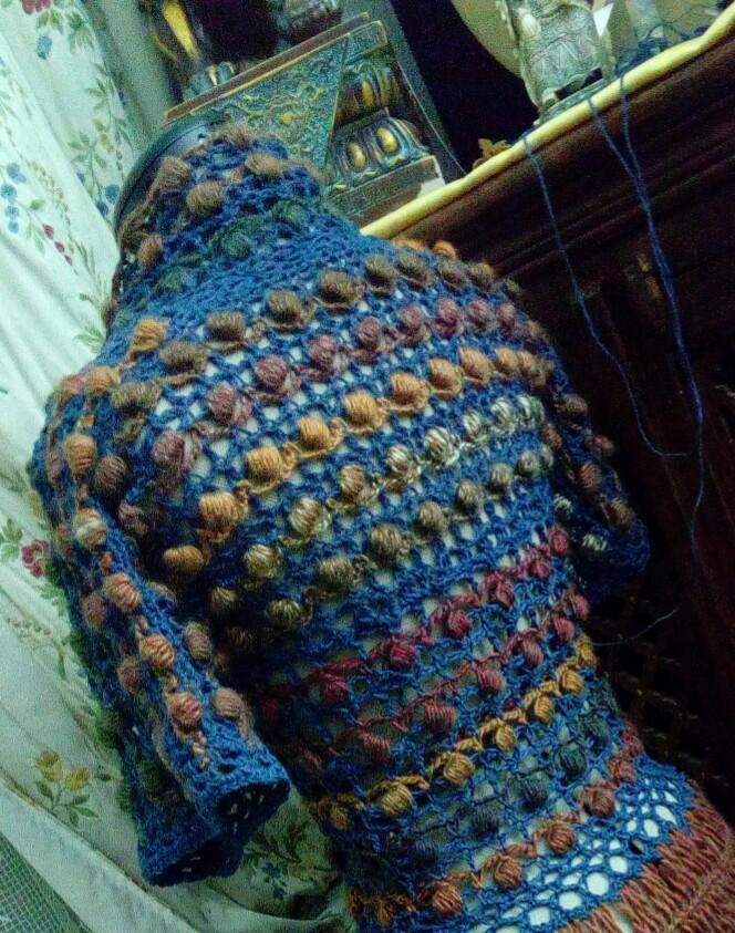 Médiéval 2ème : Costume d'Inspiration Genre Robe-Manteau en Laine et Lin : Crochet et Fourche Crochet  Img_2055