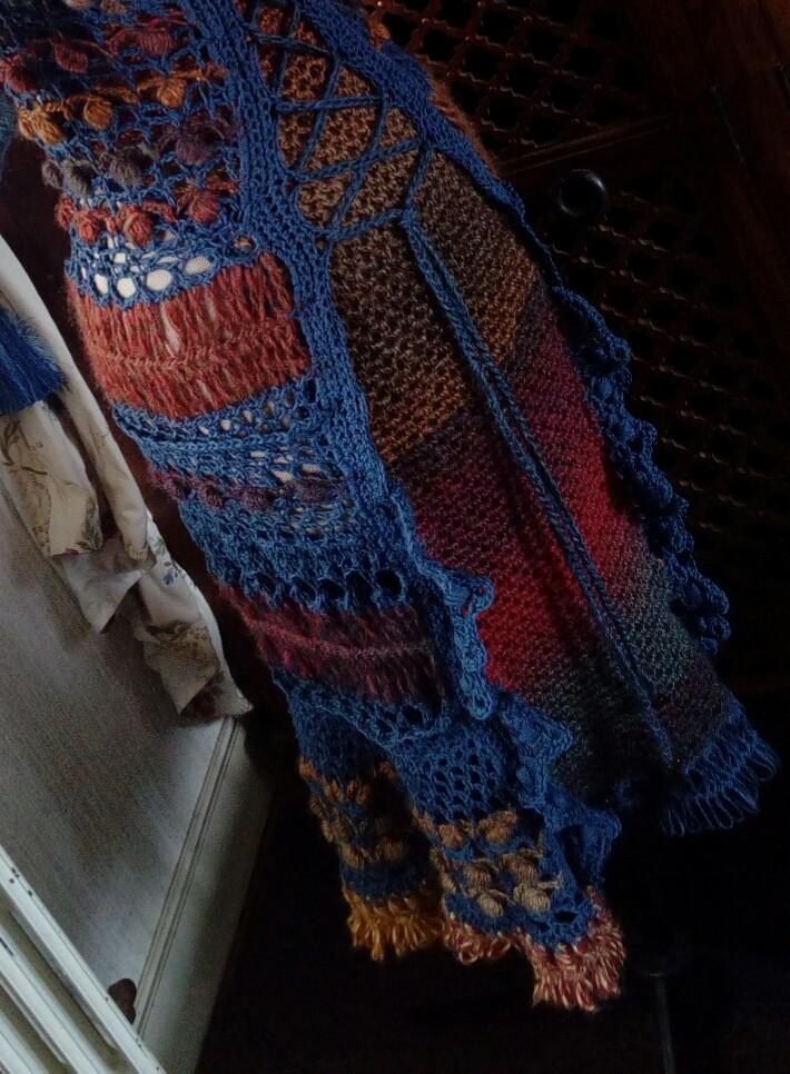Médiéval 2ème : Costume d'Inspiration Genre Robe-Manteau en Laine et Lin : Crochet et Fourche Crochet  Img_2056