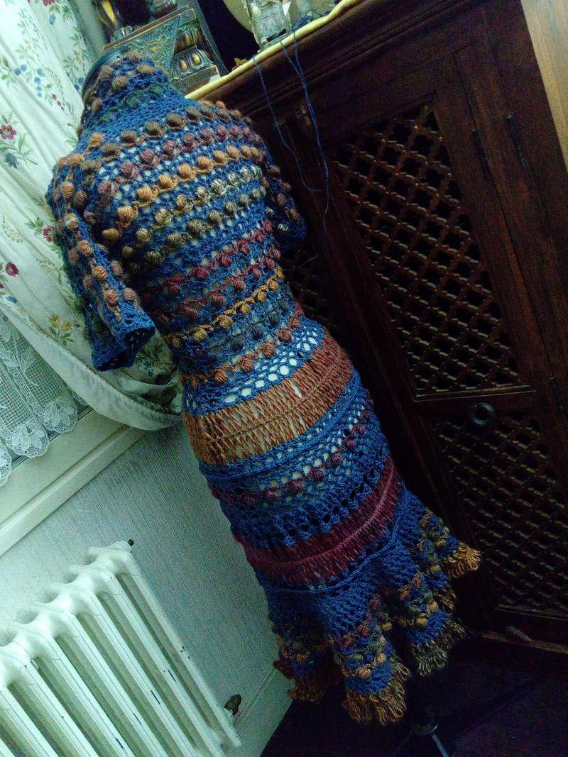 Médiéval 2ème : Costume d'Inspiration Genre Robe-Manteau en Laine et Lin : Crochet et Fourche Crochet  Img_2059