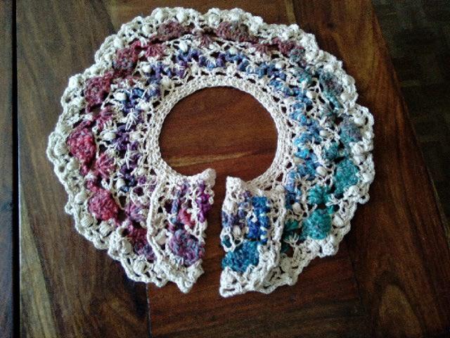 Robe Flammenco au Crochet Laine et Soie , Laine Noro Japonais ! Img_2064