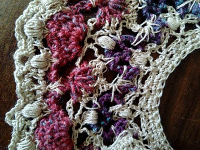 Robe Flammenco au Crochet Laine et Soie , Laine Noro Japonais ! Img_2065