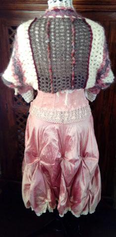 Robe Tissu en Soie Sauvage Saumonée , trés Couture pour événement d'exception ! Img_2153