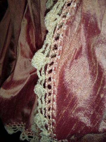 Robe Tissu en Soie Sauvage Saumonée , trés Couture pour événement d'exception ! Img_2154