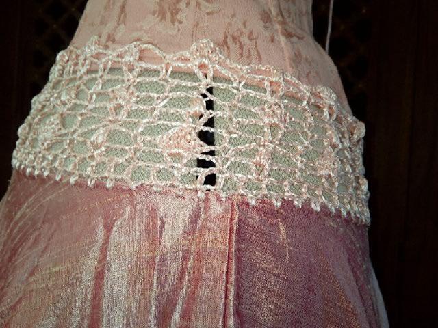 Robe Tissu en Soie Sauvage Saumonée , trés Couture pour événement d'exception ! Img_2156