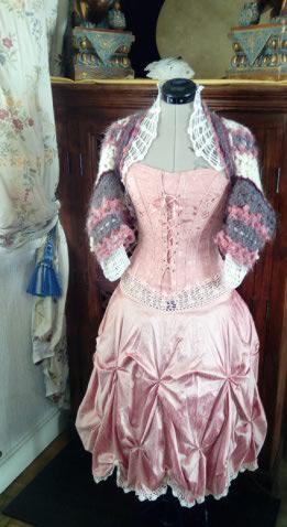 Robe Tissu en Soie Sauvage Saumonée , trés Couture pour événement d'exception ! Img_2160