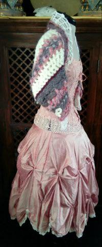 Robe Tissu en Soie Sauvage Saumonée , trés Couture pour événement d'exception ! Img_2162