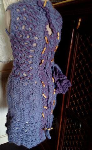 3ème : Costume Robe-Manteau en Trés Grosse Laine style Bleu Médiéval  Img_2173