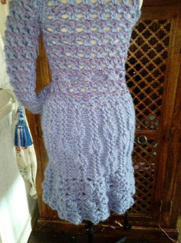 3ème : Costume Robe-Manteau en Trés Grosse Laine style Bleu Médiéval  Img_2174