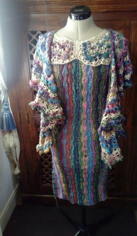 Robe Flammenco au Crochet Laine et Soie , Laine Noro Japonais ! Img_2194