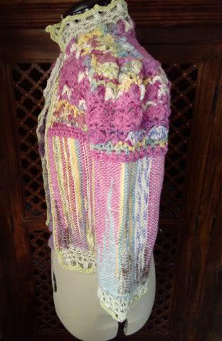 Le TISSAGE : 1ère Petite Veste LAINE & LIN avec partie Crochet  Img_2219