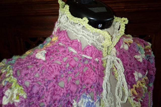 Le TISSAGE : 1ère Petite Veste LAINE & LIN avec partie Crochet  Img_2221