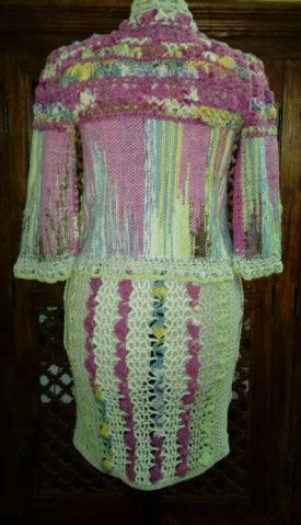 Le TISSAGE : 1ère Petite Veste LAINE & LIN avec partie Crochet  Img_2222
