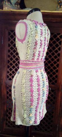 Le TISSAGE : 1ère Petite Veste LAINE & LIN avec partie Crochet  Img_2223