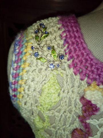 Le TISSAGE : 1ère Petite Veste LAINE & LIN avec partie Crochet  Img_2231
