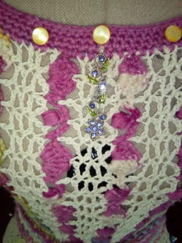 Le TISSAGE : 1ère Petite Veste LAINE & LIN avec partie Crochet  Img_2232