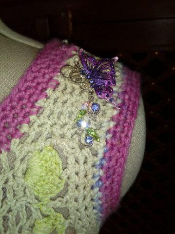 Le TISSAGE : 1ère Petite Veste LAINE & LIN avec partie Crochet  Img_2234