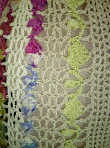 Le TISSAGE : 1ère Petite Veste LAINE & LIN avec partie Crochet  Img_2235
