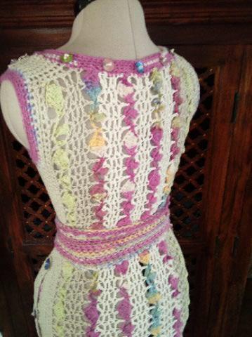 Le TISSAGE : 1ère Petite Veste LAINE & LIN avec partie Crochet  Img_2238