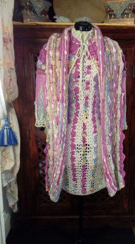Le TISSAGE : 1ère Petite Veste LAINE & LIN avec partie Crochet  Img_2239