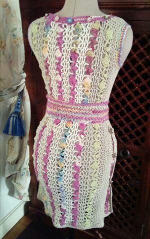 Le TISSAGE : 1ère Petite Veste LAINE & LIN avec partie Crochet  Img_2240