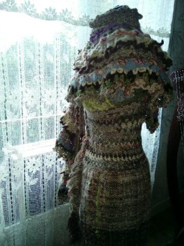Le TISSAGE : 2ème Robe-Manteau avec Châle au Crochet  Img_2247