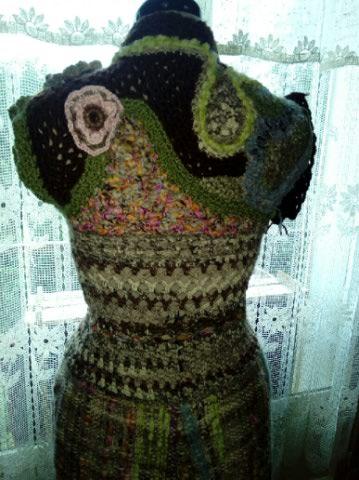 Le TISSAGE : 2ème Robe-Manteau avec Châle au Crochet  Img_2250