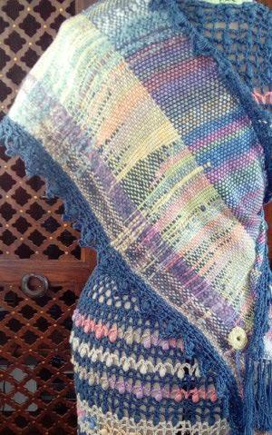 Le TISSAGE : 3ème , Robe au Crochet dentelle en LIN avec Echarpe LIN & LAINE  Img_2254