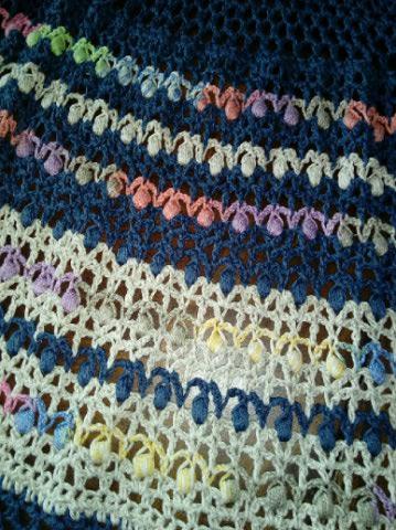 Le TISSAGE : 3ème , Robe au Crochet dentelle en LIN avec Echarpe LIN & LAINE  Img_2257