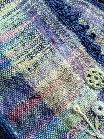 Le TISSAGE : 3ème , Robe au Crochet dentelle en LIN avec Echarpe LIN & LAINE  Img_2262