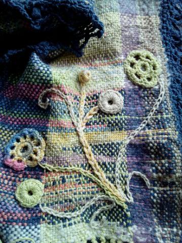 Le TISSAGE : 3ème , Robe au Crochet dentelle en LIN avec Echarpe LIN & LAINE  Img_2264
