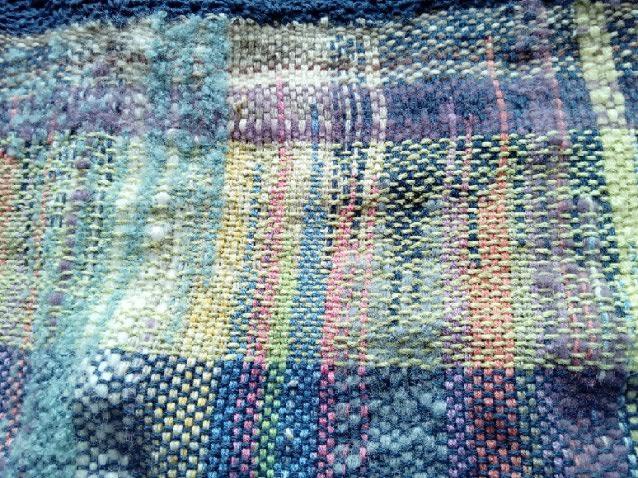 Le TISSAGE : 3ème , Robe au Crochet dentelle en LIN avec Echarpe LIN & LAINE  Img_2266