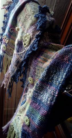 Le TISSAGE : 3ème , Robe au Crochet dentelle en LIN avec Echarpe LIN & LAINE  Img_2267